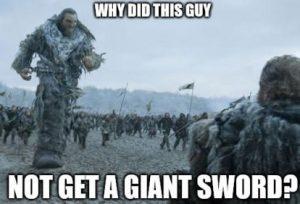 need a sword
